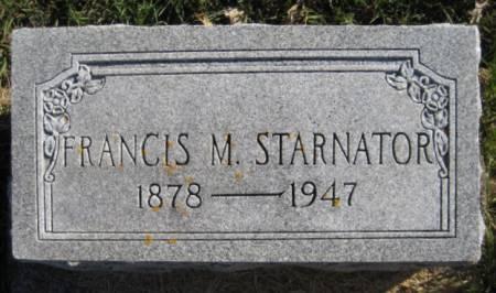 STARNATOR, FRANCIS M. - Washington County, Iowa | FRANCIS M. STARNATOR