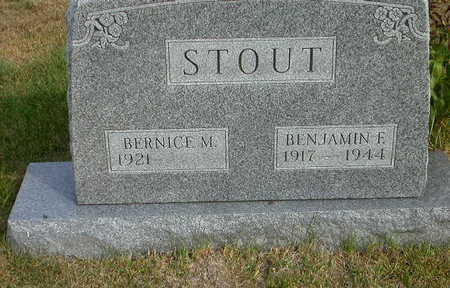 STOUT, BERNICE M - Washington County, Iowa | BERNICE M STOUT