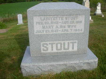 STOUT, MARY A - Washington County, Iowa   MARY A STOUT