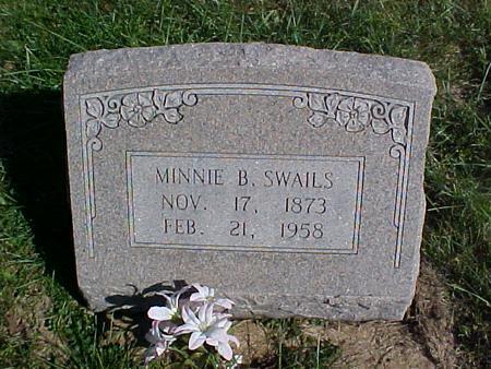 SWAILS, MINNIE B. - Washington County, Iowa   MINNIE B. SWAILS