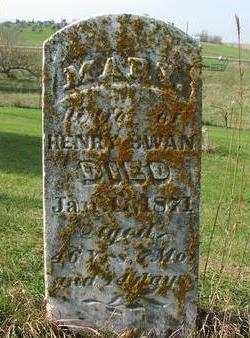 SWAN, MARY - Washington County, Iowa | MARY SWAN
