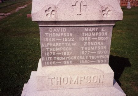 PATTERSON THOMPSON, ELIZABETH - Washington County, Iowa | ELIZABETH PATTERSON THOMPSON