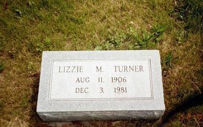 TURNER, LIZZIE M. - Washington County, Iowa | LIZZIE M. TURNER