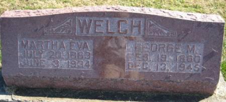 WELCH, MARTHA EVA - Washington County, Iowa | MARTHA EVA WELCH