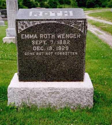 WENGER, EMMA RUTH - Washington County, Iowa | EMMA RUTH WENGER