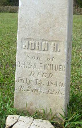 WILDER, JOHN H. - Washington County, Iowa | JOHN H. WILDER