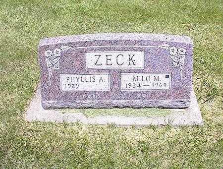 ZECK, MILO M. - Washington County, Iowa | MILO M. ZECK