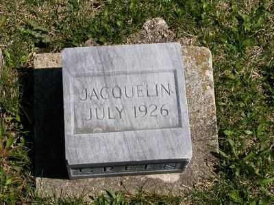 GREEN, JACQUELIN - Wayne County, Iowa | JACQUELIN GREEN