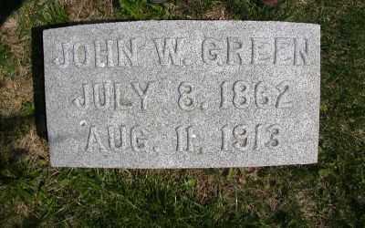 GREEN, JOHN WASHINGTON - Wayne County, Iowa | JOHN WASHINGTON GREEN