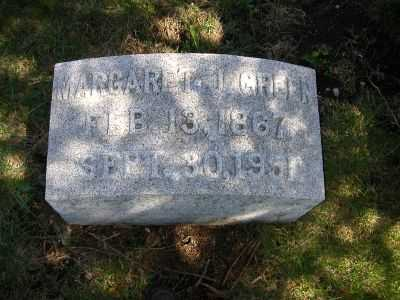 GREEN, MARGARET JANE - Wayne County, Iowa   MARGARET JANE GREEN
