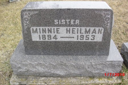 HEILMAN, MINNIE - Wayne County, Iowa | MINNIE HEILMAN