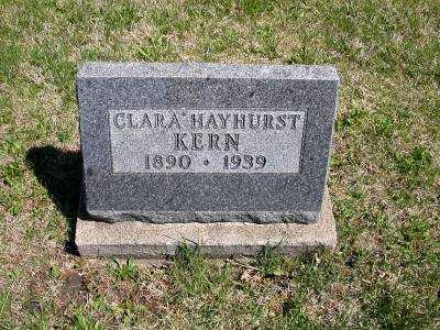 KERN, CLARA HAYHURST - Wayne County, Iowa | CLARA HAYHURST KERN