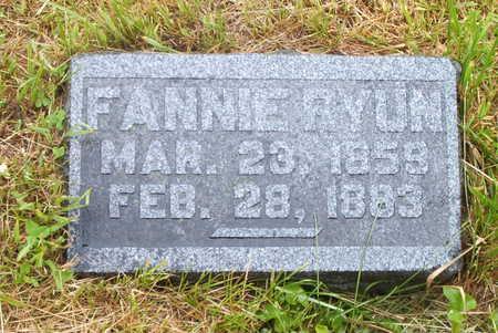 RYUN, FANNIE - Wayne County, Iowa   FANNIE RYUN