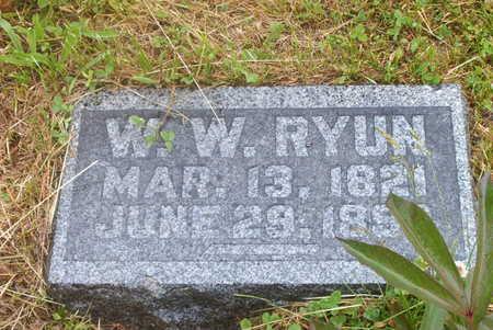 RYUN, W. W, - Wayne County, Iowa | W. W, RYUN