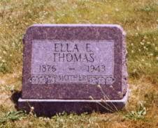 ENRIGHT THOMAS, ELLA E. - Wayne County, Iowa   ELLA E. ENRIGHT THOMAS