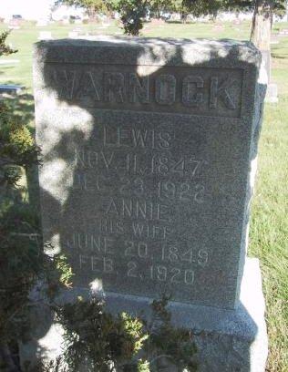 GARMAN WARNOCK, ANNIE - Wayne County, Iowa   ANNIE GARMAN WARNOCK
