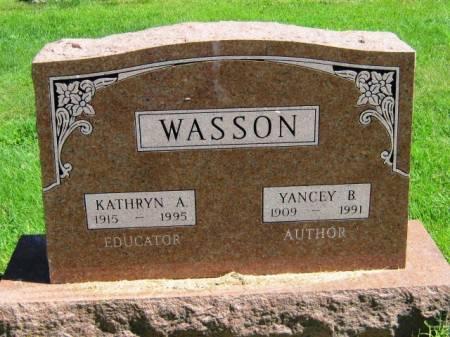 WASSON, YANCEY B - Wayne County, Iowa   YANCEY B WASSON