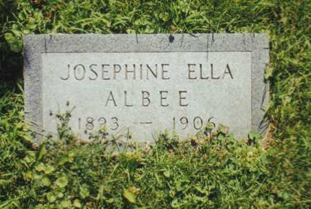ALBEE, JOSEPHINE ELLA - Webster County, Iowa   JOSEPHINE ELLA ALBEE