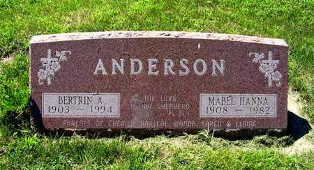 ANDERSON, MABEL HANNA - Webster County, Iowa | MABEL HANNA ANDERSON