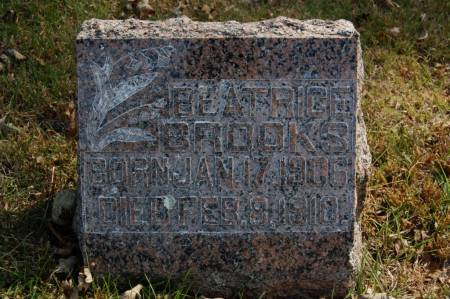 BROOKS, BEATRICE - Webster County, Iowa   BEATRICE BROOKS