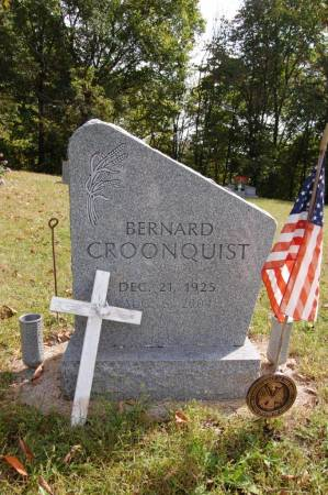 CROONQUIST, BERNARD - Webster County, Iowa   BERNARD CROONQUIST