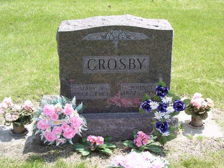 BURNS CROSBY, JOHN AND MARY - Webster County, Iowa   JOHN AND MARY BURNS CROSBY