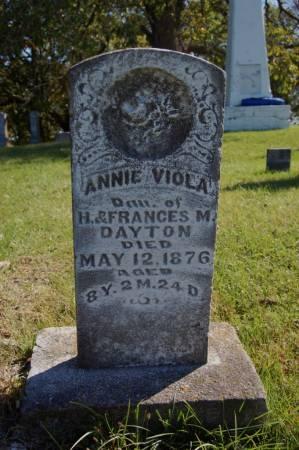 DAYTON, ANNIE VIOLA - Webster County, Iowa | ANNIE VIOLA DAYTON