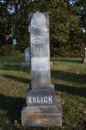 ESLICK, MARTHA J. - Webster County, Iowa   MARTHA J. ESLICK