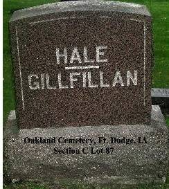 HALE GILLFILLAN, FAMILY SITE - Webster County, Iowa | FAMILY SITE HALE GILLFILLAN