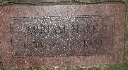 HALE, MIRIAM - Webster County, Iowa | MIRIAM HALE