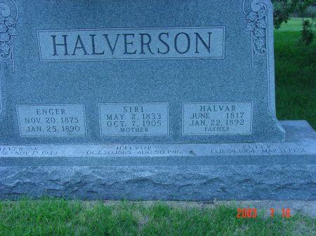 HALVERSON, HALVER - Webster County, Iowa | HALVER HALVERSON