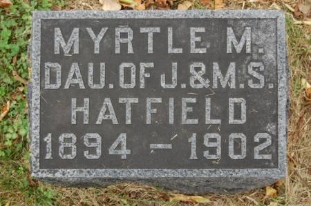 HATFIELD, MYRTLE M. - Webster County, Iowa   MYRTLE M. HATFIELD