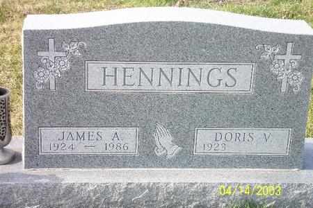 HENNINGS, JAMES AUGUST - Webster County, Iowa   JAMES AUGUST HENNINGS