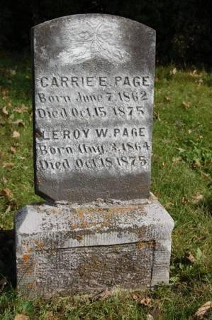 PAGE, LEROY W. - Webster County, Iowa | LEROY W. PAGE