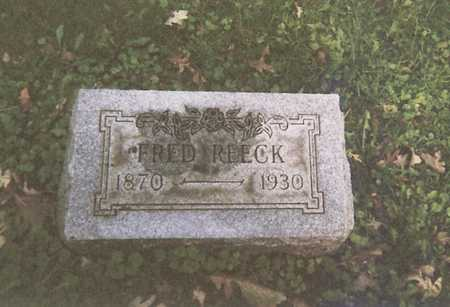 REECK, FREDRICK - Webster County, Iowa   FREDRICK REECK