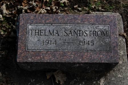 SANDSTROM, THELMA - Webster County, Iowa   THELMA SANDSTROM