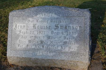 SWANSON, JENNY LOUISE - Webster County, Iowa | JENNY LOUISE SWANSON