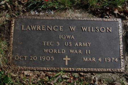 WILSON, LAWRENCE W. - Webster County, Iowa   LAWRENCE W. WILSON