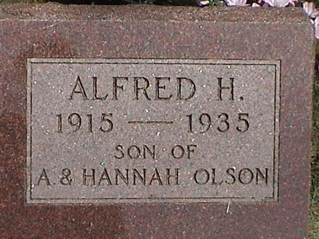 OLSON, ALFRED HOWARD - Winnebago County, Iowa | ALFRED HOWARD OLSON