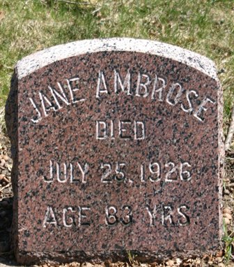 CHURCH AMBROSE, JANE - Winnebago County, Iowa | JANE CHURCH AMBROSE