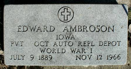 AMBROSON, EDWARD - Winnebago County, Iowa | EDWARD AMBROSON