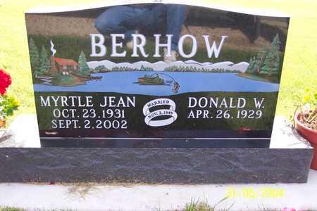 WEAVER BERHOW, MYRTLE - Winnebago County, Iowa   MYRTLE WEAVER BERHOW