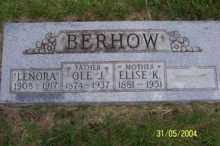BERHOW, OLE J. - Winnebago County, Iowa   OLE J. BERHOW