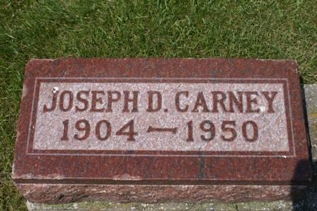 CARNEY, JOSEPH D. - Winnebago County, Iowa   JOSEPH D. CARNEY