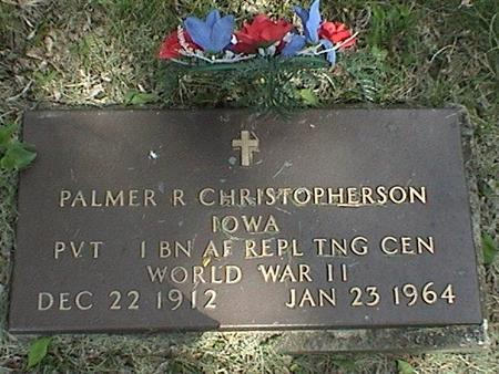 CHRISTOPHERSON, PALMER R - Winnebago County, Iowa   PALMER R CHRISTOPHERSON