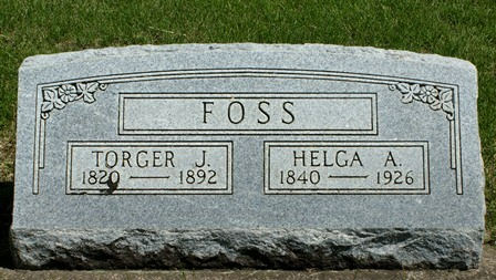 FOSS, TORGER J. - Winnebago County, Iowa | TORGER J. FOSS
