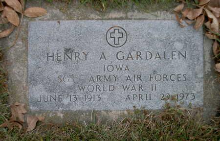 GARDALEN, HENRY A - Winnebago County, Iowa   HENRY A GARDALEN