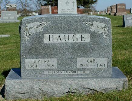 HAUGE, CARL - Winnebago County, Iowa | CARL HAUGE