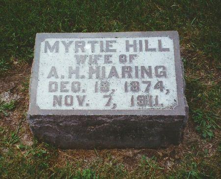 HILL HIARING, MYRTIE M. - Winnebago County, Iowa | MYRTIE M. HILL HIARING