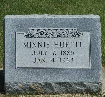 BROSTROM HUETTL, MINNIE - Winnebago County, Iowa   MINNIE BROSTROM HUETTL